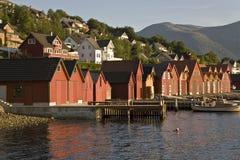 Docks der Fischer Stockfotografie