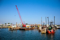 Docks of Galilee, Rhode Island. Royalty Free Stock Photography