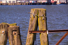 Docks. In the harbour of Gothenburg Sweden on a sunny day by the water royalty free stock image