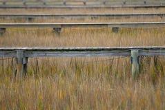 Docks In The Marsh Stock Photo