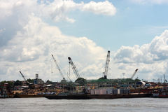 Docks of Iquitos Royalty Free Stock Photos