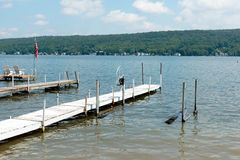 Docks on the lake Stock Images