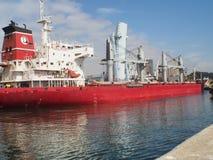 Docks of Leixões ship entrance Stock Images