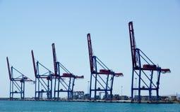 The docks of Malaga harbour. Malaga - 14 april 2013 - The docks of Malaga harbour stock photo