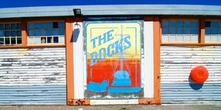 The Docks mural Fremantle Harbour, Western Australia Royalty Free Stock Photography