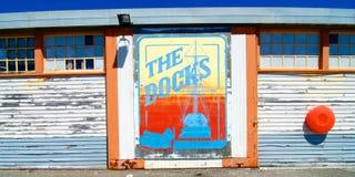 The Docks mural Fremantle Harbour, Western Australia Royalty Free Stock Photography
