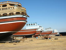 Docks nahe Peiposht in Qeshm-Insel, der Iran Stockbild