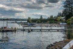 Docks Near Seward Park Royalty Free Stock Photo