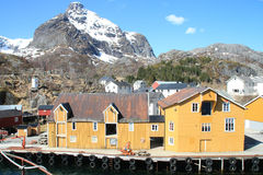 The docks of Nusfjord   in Lofoten II Stock Photography