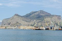 Docks at Palermo, Sicily stock photo