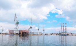 Docks and port of Pula Royalty Free Stock Photos