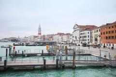 Docks at Riva degli Schiavoni Royalty Free Stock Images