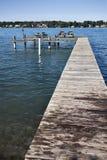 Docks on River Stock Image