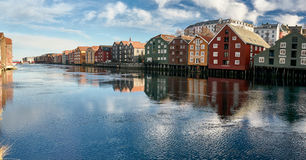 The docks of Trondheim royalty free stock image