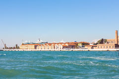 Docks of venetian cruise terminal port Royalty Free Stock Photo