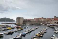 Docks von altem Dubrovnik lizenzfreies stockbild