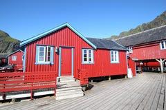 Docks of west Lofoten Stock Photography