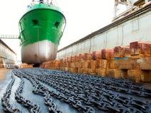 dockship Royaltyfri Bild