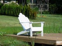 dockside стула adirondack Стоковые Фотографии RF