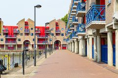 Dockside Apartments At Shadwell Basin In London Stock Image