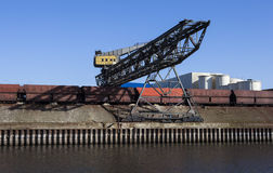 Dockside crane Stock Image