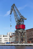 Dockside crane Stock Image
