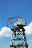 Dockside crane in Red Hook section of Brooklyn Royalty Free Stock Photography
