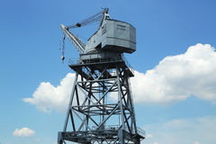 Dockside crane in Red Hook section of Brooklyn Stock Images