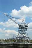 Dockside crane in Red Hook section of Brooklyn Royalty Free Stock Photos