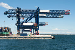 Dockside Cranes Royalty Free Stock Photography