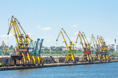 Dockside cranes Royalty Free Stock Photo