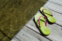 Dockside flip flops Stock Photography