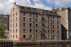 Dockside-Häuser Stockbilder