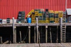 Dockside homara oklepowie Zdjęcia Stock