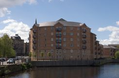 Dockside Houses 2. Trendy houses in the once derelict dockland area of Leith, Edinburgh, Scotland Stock Photos