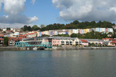 Dockside Houses in Bristol. Colourful houses along the dockside in Bristol Stock Photo