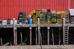 Dockside Lobster Traps Stock Photos