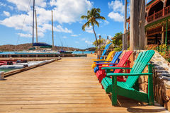 Dockside lounge Royalty Free Stock Image