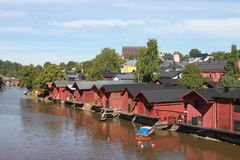 Dockside Porvoo Stock Photos