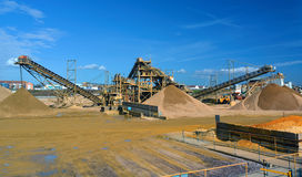 Dockside sand and gravel grading machine Royalty Free Stock Photography