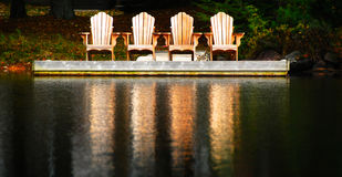 Dockside seating Stock Images