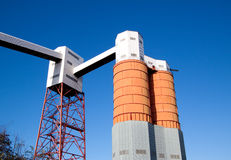 Dockside Silos and Conveyors Royalty Free Stock Photography