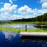 Dockside. Time to fish Lake Monroe Royalty Free Stock Image