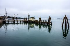Dockside view in California royalty free stock images