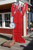 Docksidehummerrestaurant im historischen Bar-Hafen Lizenzfreies Stockfoto