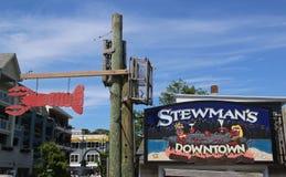 Docksidehummerrestaurant im historischen Bar-Hafen Lizenzfreies Stockbild