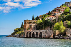 Dockyard and arsenal in Alanya, Turkey Royalty Free Stock Image