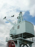 Dockyard crane. Dockside crane used in chatham naval base Stock Photos