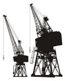 Dockyard cranes Stock Image