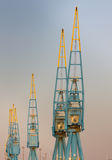 Dockyard Cranes Stock Photography